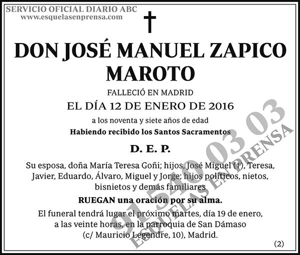 José Manuel Zapico Maroto